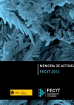 FECYT Activity Report 2012
